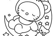 Hello Kitty To Draw - AZ Coloring Pages