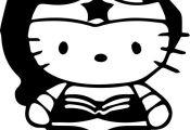 Hello Kitty Wonder Woman Baby Bodysuit Choose by AinsleeStudio