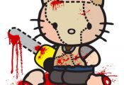 Hello Kitty as Leather Face