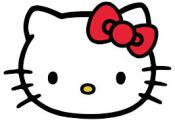 Hello Kitty by Yuko Shimizu. Vector-based character design, thick line weight, c...