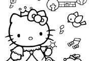 Hello Kitty color page Hello Kitty Hello kitty music colorpage