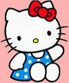Hello Kitty coloring pages 43 Hello Kitty pictures to print and color