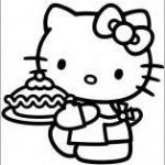 Hello Kitty kleurplaten op Coloring-Book.info