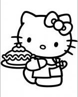 Hello Kitty kleurplaten op Coloring-Book.info
