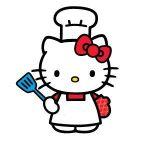 Hello Kitty likes to bake