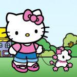 Hello Kitty walking dog #hellokitty poodle