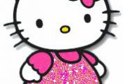 Hello kitty Glitter plaatjes