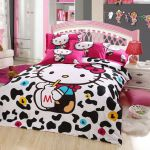Hello kitty bedding set is Good For Hello kitty room decor . The colors are real...