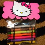 Hello kitty favors to go with coloring pages.