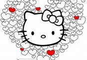 Hello kitty in hearts