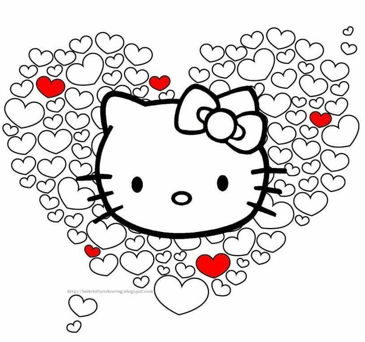 Hello-kitty-in-hearts Hello kitty in hearts Hello Kitty