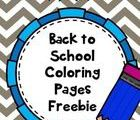 Here are some simple back to school coloring pages to get you through those firs...