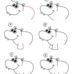 How to draw Cartoon Hippo. Easy drawing, step by step, perfect for kids! Let's d...