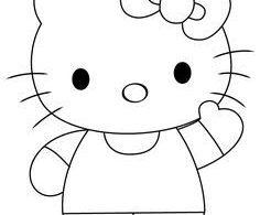 How to draw Hello Kitty - DrawingTutorials1...