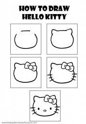How to draw Hello Kitty Wallpaper
