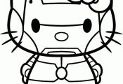 Iron Man Hello Kitty Coloring Sheet #SuperHero #SuperHeroes #Hero #Heroes #Color...