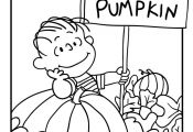 It's the Great Pumpkin Charlie Brown Coloring Pages Linus Waiting for the Grea...