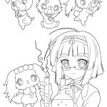 Jewelpet cartoon coloring pages for kids, printable free