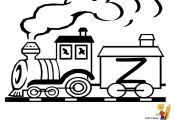 Kids Alphabet Coloring Page Of Letter Z At YesColoring. These train coloring pag...