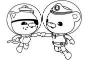 Kwazii and Captain Barnacles of The Octonauts Coloring Page