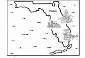Learn all about the Sunshine State with this cute cartoon coloring page that tak...