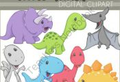 Little Dinos Digital Clip Art from Dorky Doodles on TeachersNotebook.com -  (7 p...