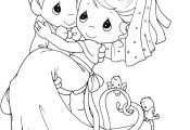 Married Precious Moments Coloring Pages - Precious Moments cartoon coloring page...