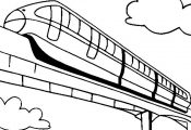 Monorail Coloring Page | Monorail Train Coloring
