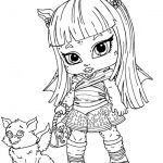 Monster High Baby Rochelle Coloring Pages - Monster High Cartoon