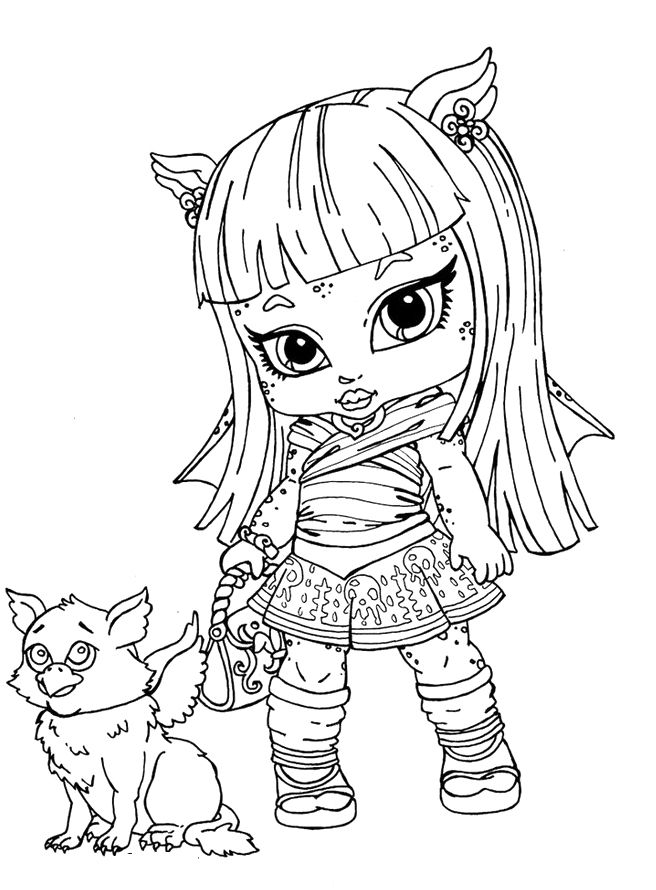 Monster-High-Baby-Rochelle-Coloring-Pages-Monster-High-Cartoon Monster High Baby Rochelle Coloring Pages - Monster High Cartoon Cartoon