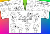 Octonauts Birthday Party Favor Personalized coloring by VSstudio