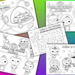 Octonauts Birthday Party Favor Personalized coloring pages activity – PDF file...