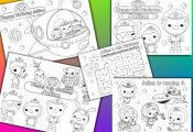 Octonauts Birthday Party Favor Personalized coloring pages activity - PDF file