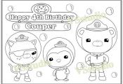 Octonauts Birthday Party coloring page activity PDF file   #cartoon #coloring #p...