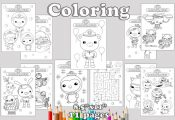 Octonauts Birthday Party favor, Octonauts coloring pages, Octonauts party decora...