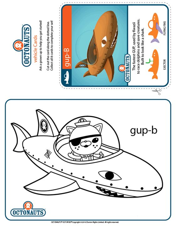 Octonauts-Kwazii-and-the-Gup-B Octonauts Colour Gup-B | Treehouse Cartoon
