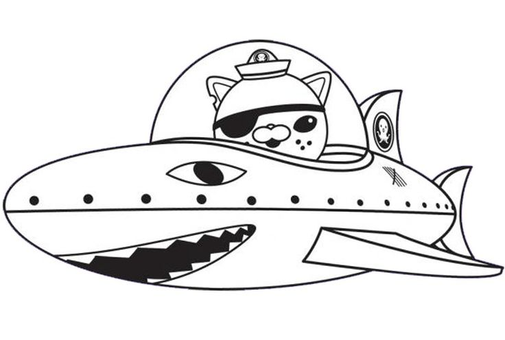Octonauts: Lieutenant Kwazii Coloring Page Wallpaper