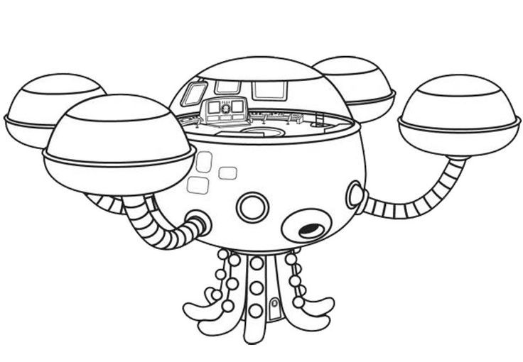 Octonauts: Octopod Coloring Page   #cartoon #coloring #pages Wallpaper