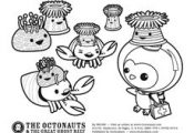 Octonauts printable coloring pages that can the kids can color.