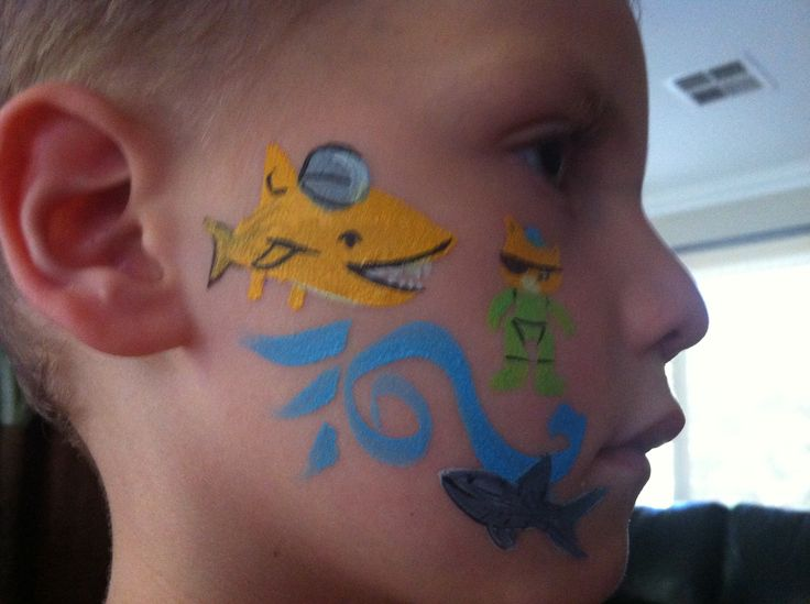 Octonauts quick face painting.