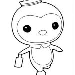Peso Penguin Walking in The Octonauts Coloring Page