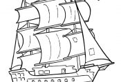 Pirate Ship Coloring Pages | These cartoon pirate coloring pages are fun to colo...
