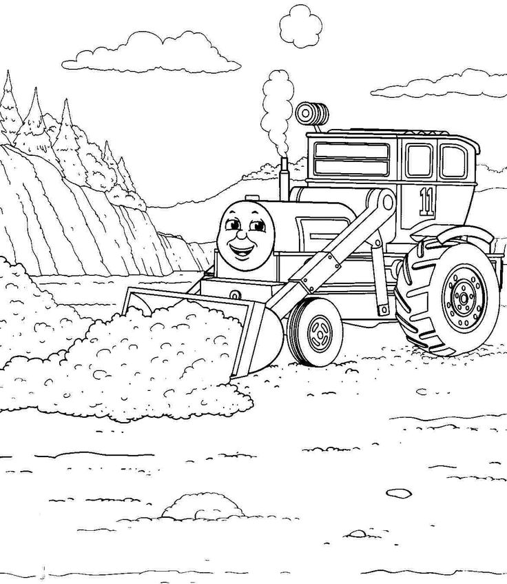 Printable Free Cartoon Thomas The Train And Friends Coloring Pages #