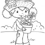 Printable Strawberry Shortcake Cartoon Coloring Pages For Girls