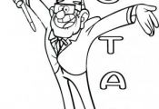 Printable #gravityfalls #characters #Stan #Pines coloring pages for kids.free on...