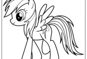 Rainbow Dash My Little Pony Cartoon Coloring Page