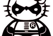 Robin Hello Kitty Coloring Sheet #SuperHero #SuperHeroes #Hero #Heroes #Coloring...