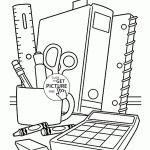 School Supplies coloring page for children, back to school coloring pages printa...