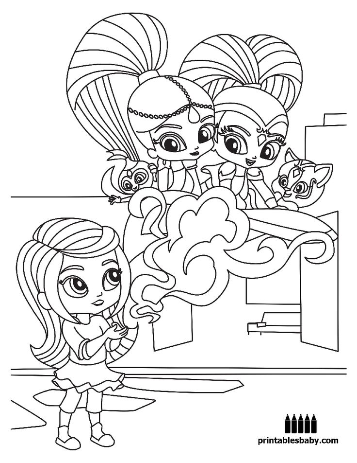 Shimmer And Shine | Printables Baby – Free Cartoon Coloring Pages Wallpaper
