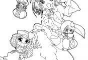 Shugo chara cartoon coloring pages for kids, printable free